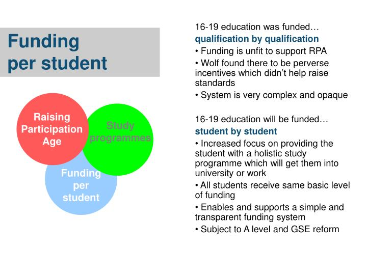 16-19 education was funded…