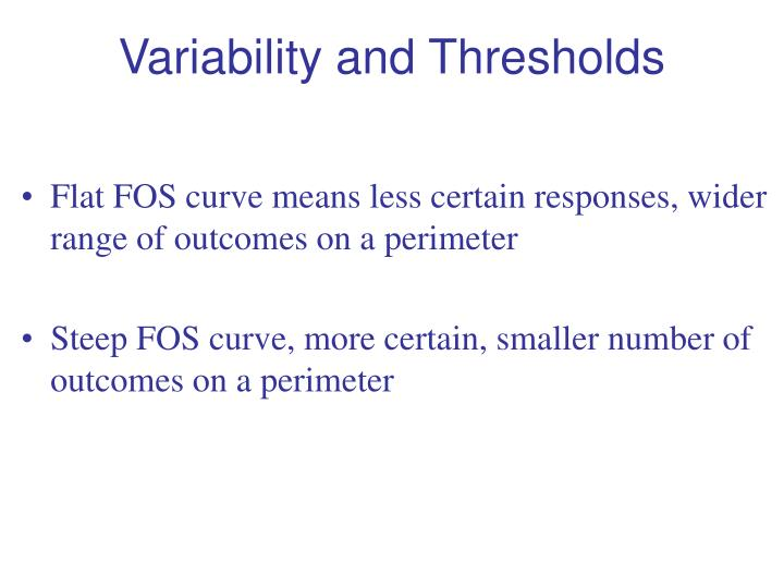 Variability and Thresholds