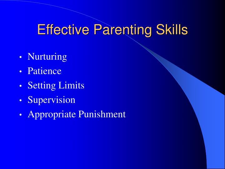 Effective Parenting Skills