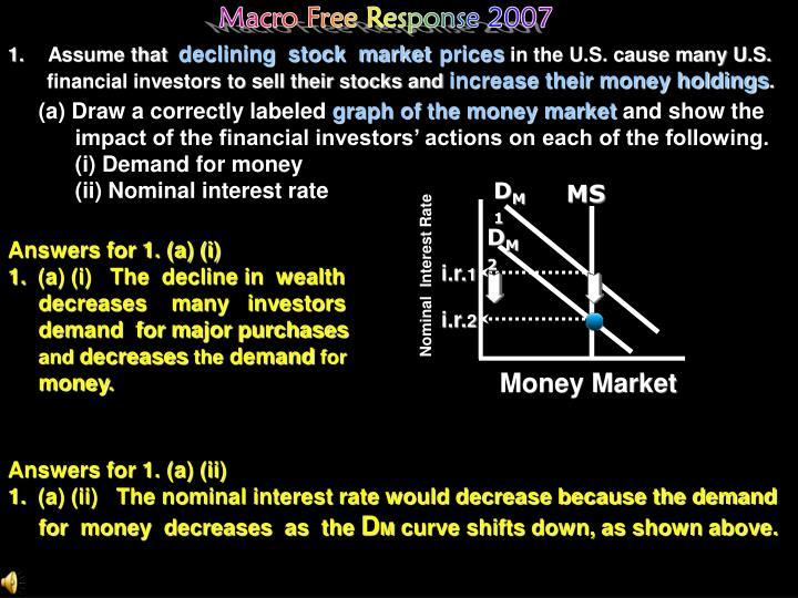 Macro Free Response 2007