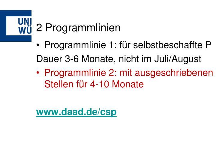 2 Programmlinien