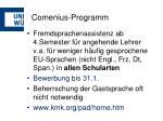 comenius programm