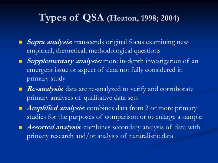 Types of QSA