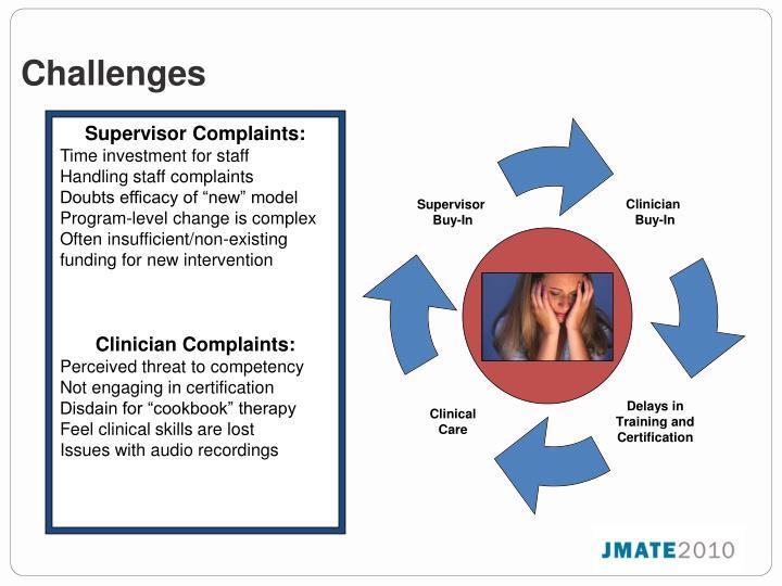Supervisor Complaints: