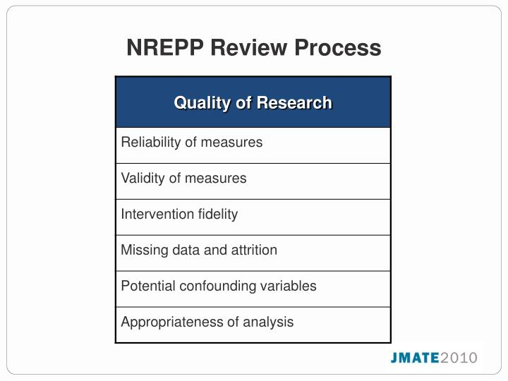 NREPP Review Process