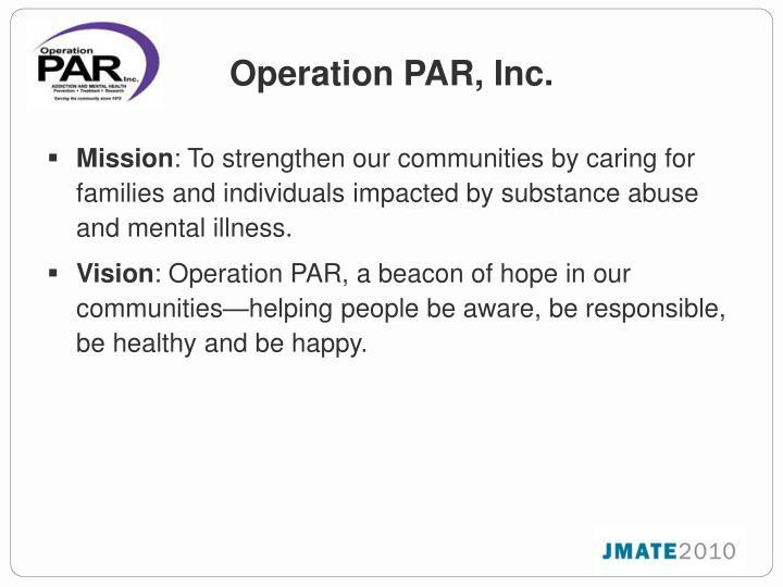 Operation PAR, Inc.