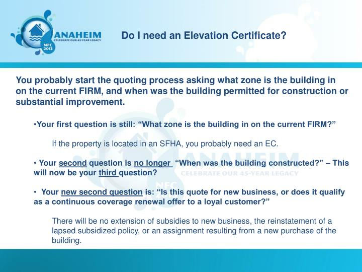 Do I need an Elevation Certificate?