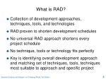 what is rad
