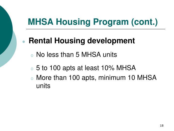 MHSA Housing Program (cont.)