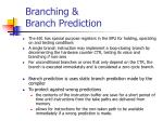 branching branch prediction
