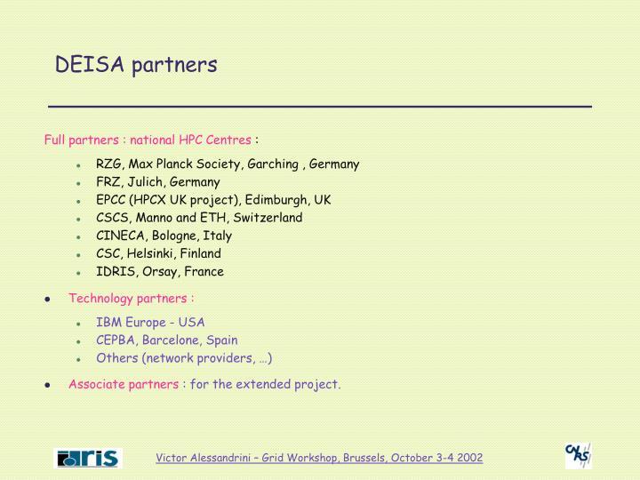 DEISA partners