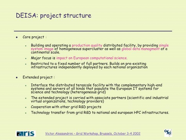 DEISA: project structure