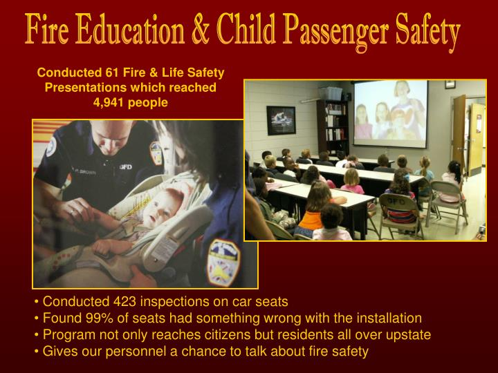 Fire Education & Child Passenger Safety