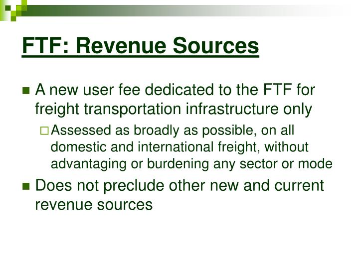 FTF: Revenue Sources