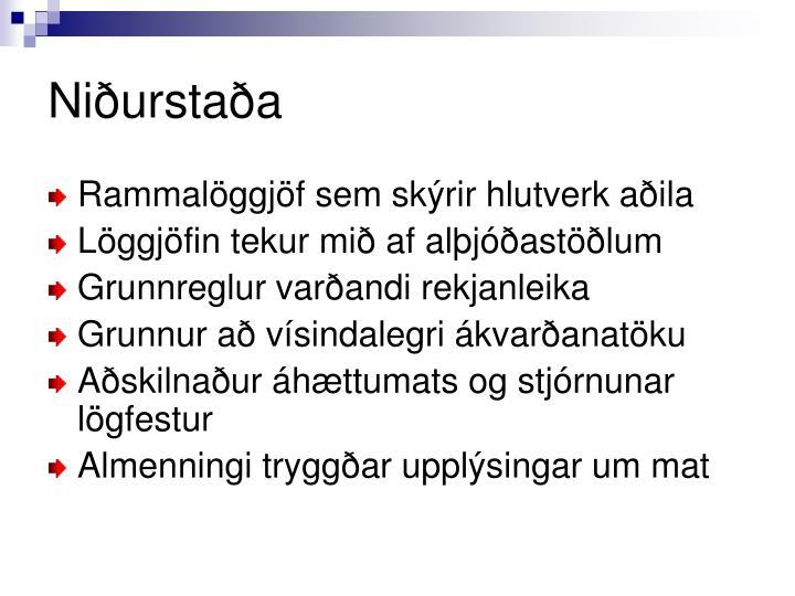 Niðurstaða