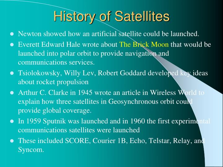 History of Satellites