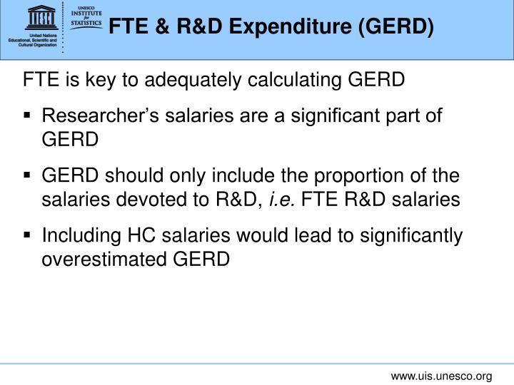 FTE & R&D Expenditure (GERD)