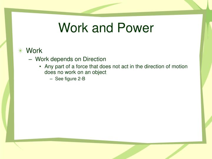Work and power2