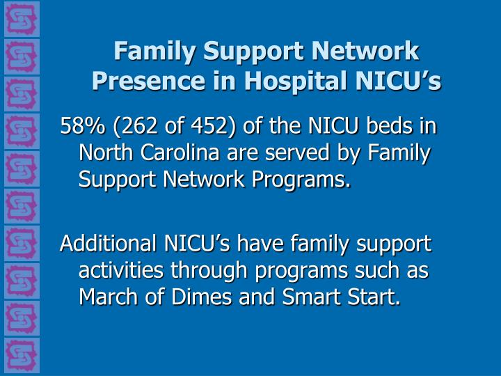 Family Support Network Presence in Hospital NICU's