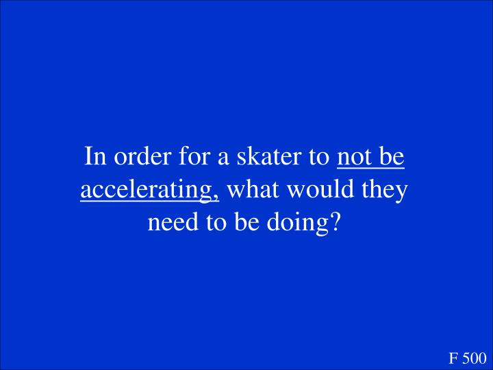 In order for a skater to