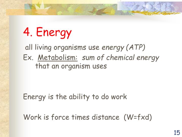 4. Energy
