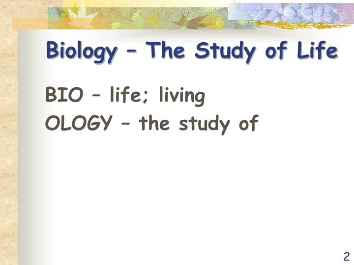 Biology – The Study of Life