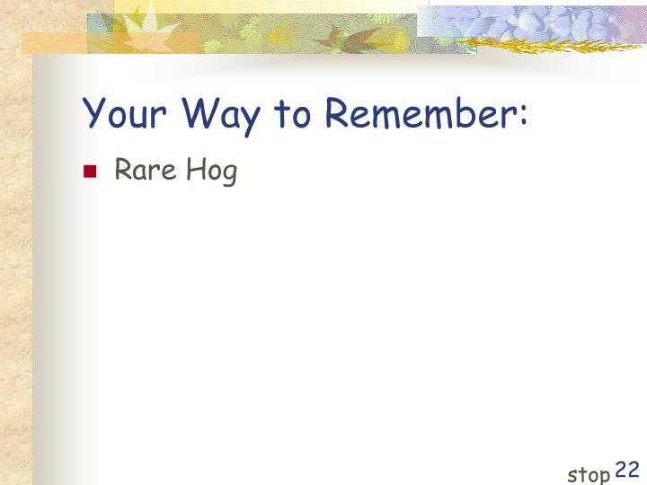Your Way to Remember: