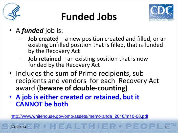 Funded jobs