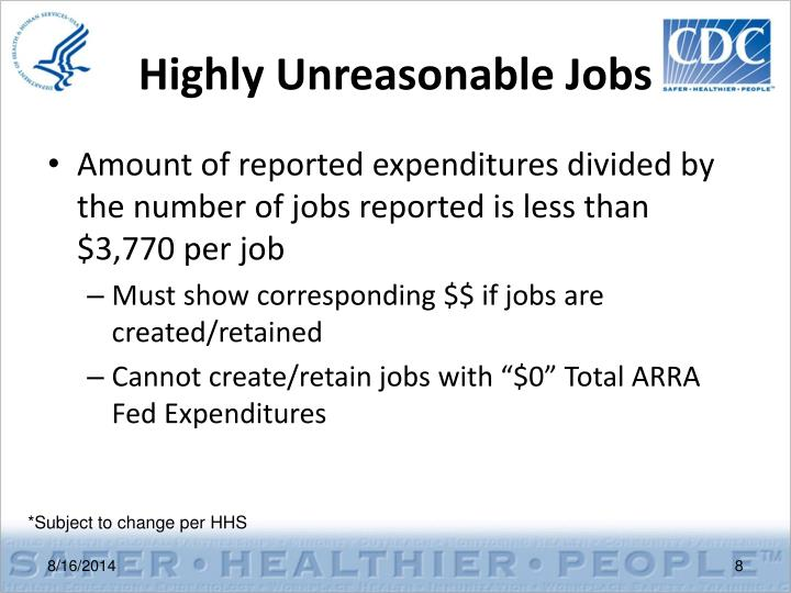 Highly Unreasonable Jobs