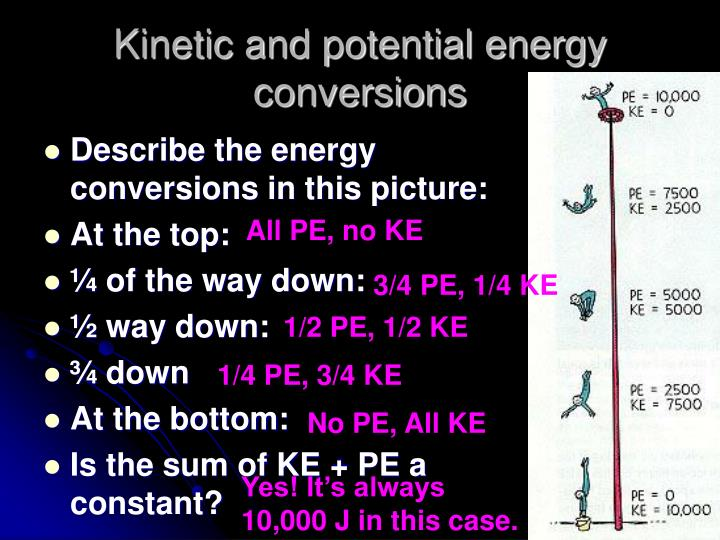 Kinetic and potential energy conversions