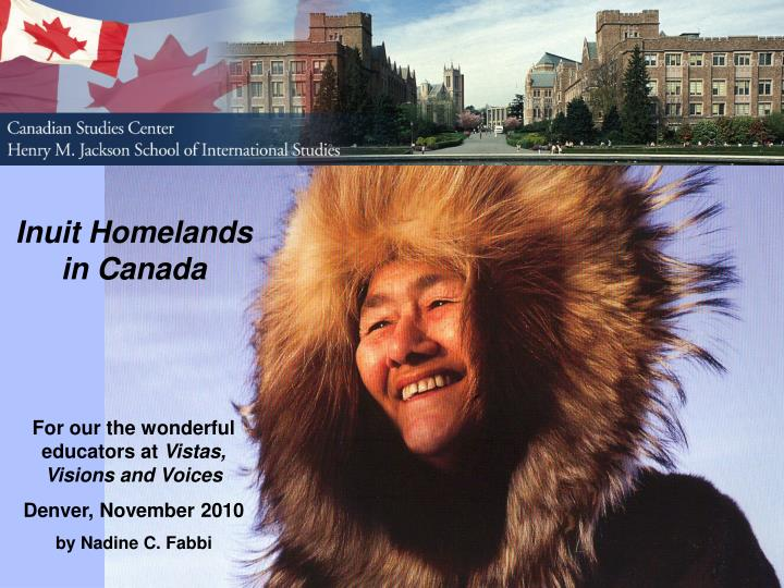 Inuit Homelands in Canada