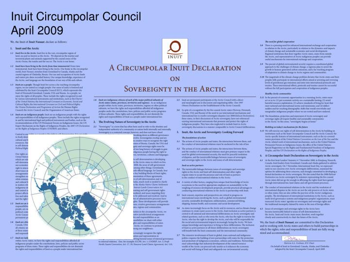 Inuit Circumpolar Council