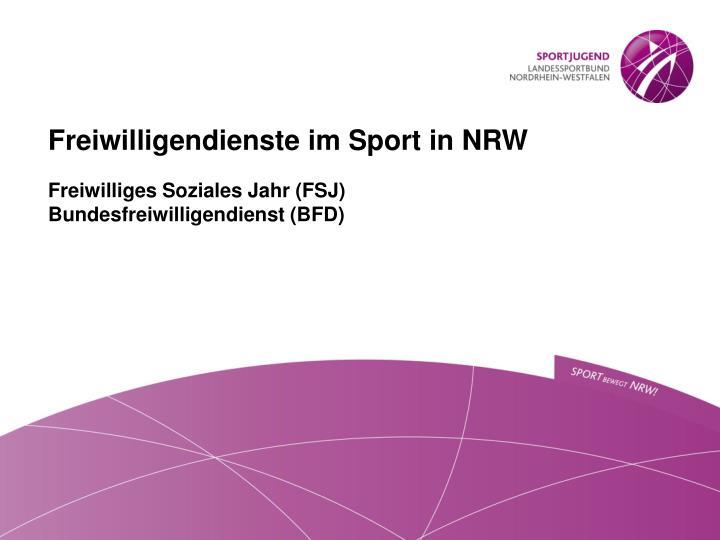 Freiwilligendienste im Sport in NRW