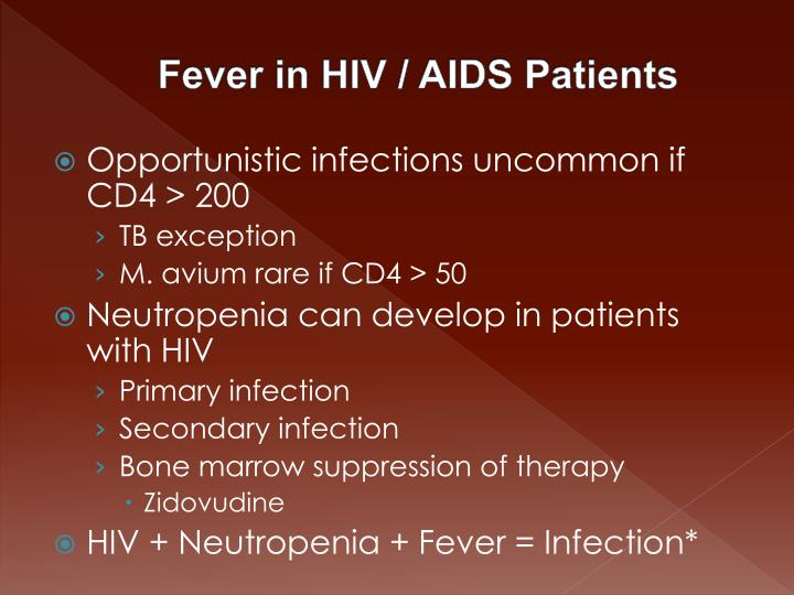 Fever in HIV / AIDS Patients