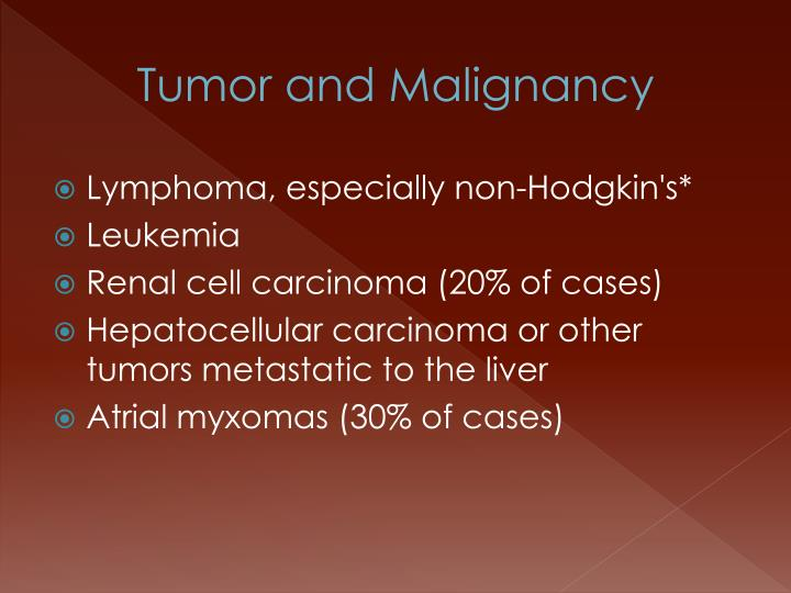 Tumor and Malignancy