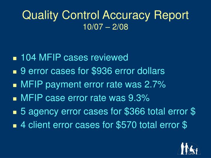 Quality control accuracy report 10 07 2 08