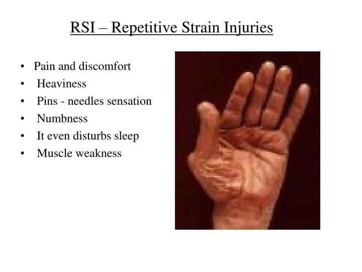 Rsi repetitive stress injury