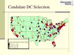 candidate dc selection