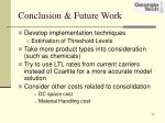 conclusion future work
