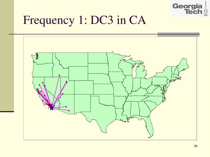 Frequency 1: DC3 in CA
