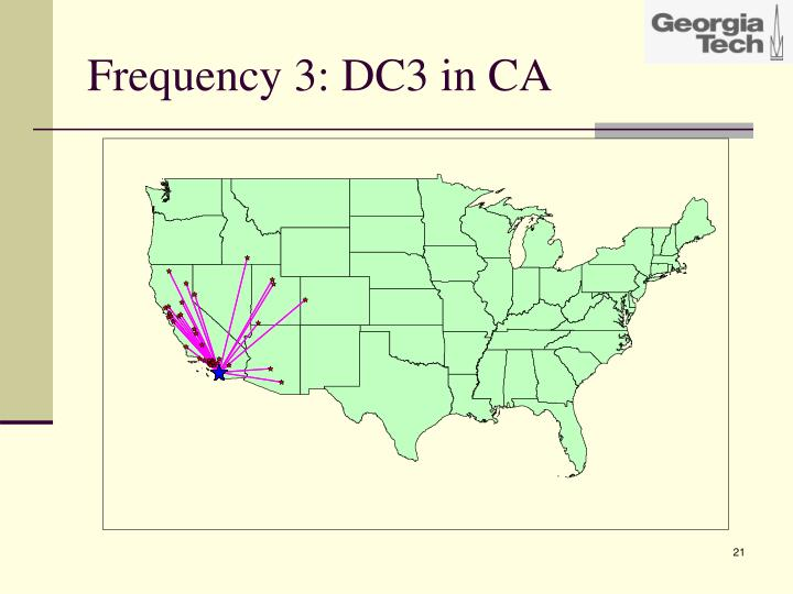 Frequency 3: DC3 in CA
