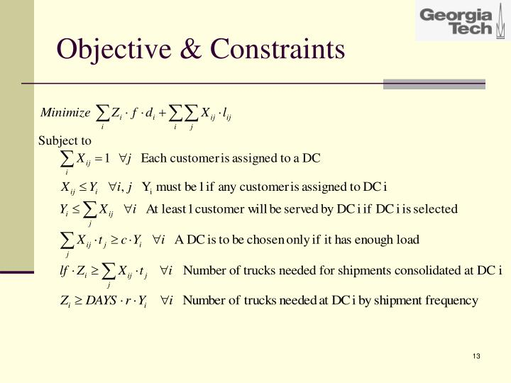 Objective & Constraints