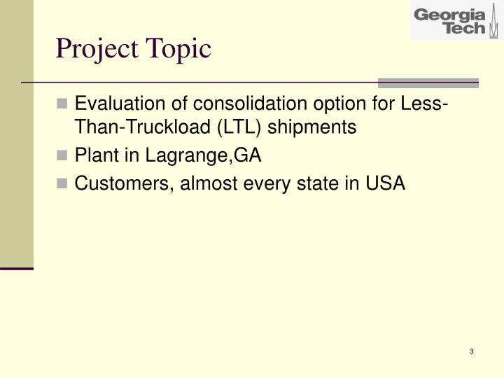 Project Topic
