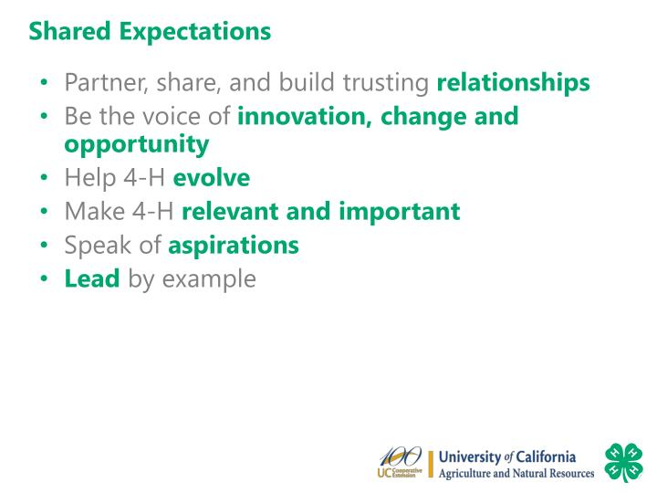 Shared Expectations