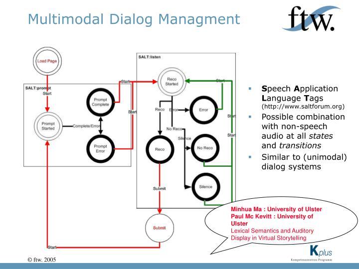 Multimodal Dialog Managment
