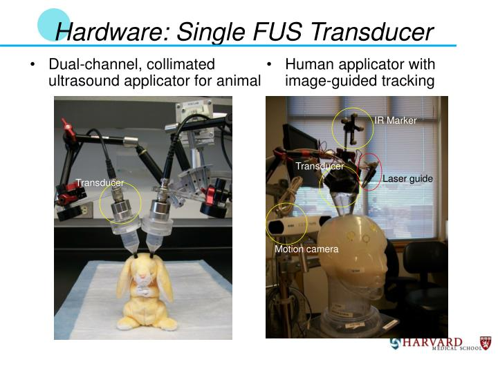 Hardware: Single FUS Transducer