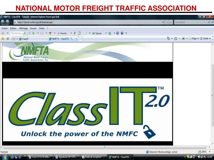 Ppt ontario logistique et transport international for National motor freight traffic association