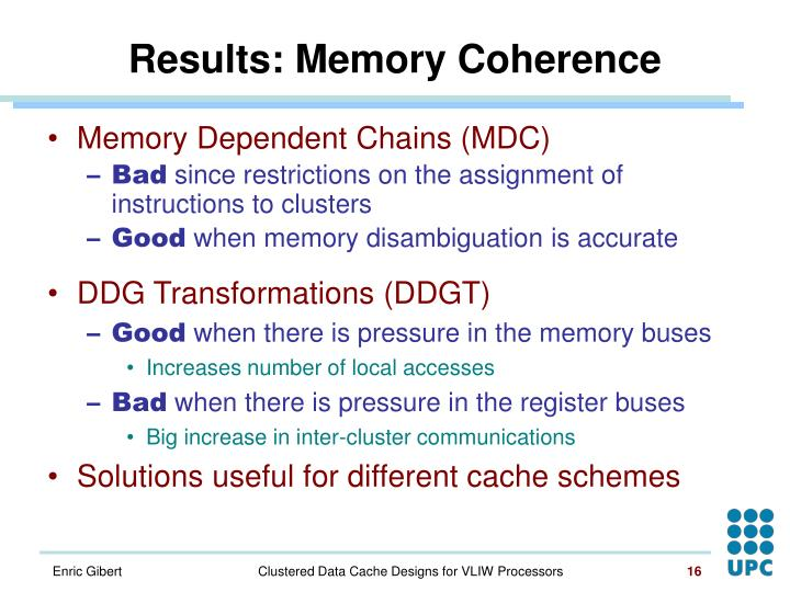 Results: Memory Coherence