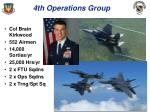 4th operations group
