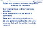 ergeg draft guidelines on market transparency eurelectric comments